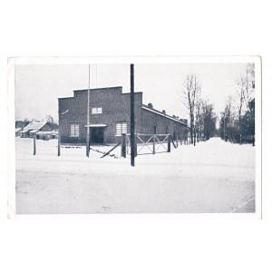 Kinosaal mit weg zum Krankenhaus Kirschberg b. Litzmannstadt karta pocztowa Łódź Wiśniowa Góra sala kinowa bez obiegu